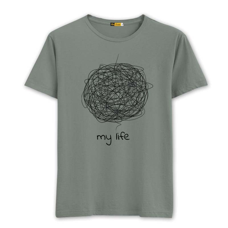 Complicated Life T-Shirt - Sage Grey