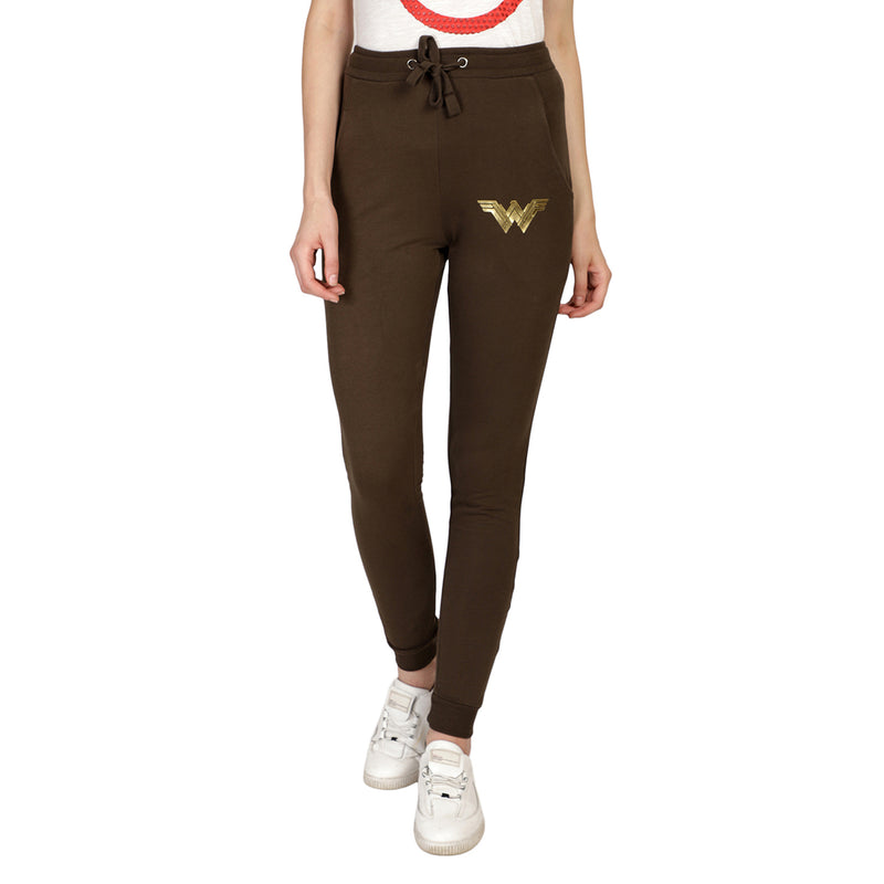 Wonder Woman printed Olive Women Jogger - 824