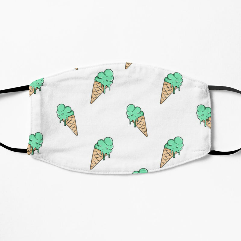 Printed Face Mask - Icecream Pattern 2 Ply Cloth Mask
