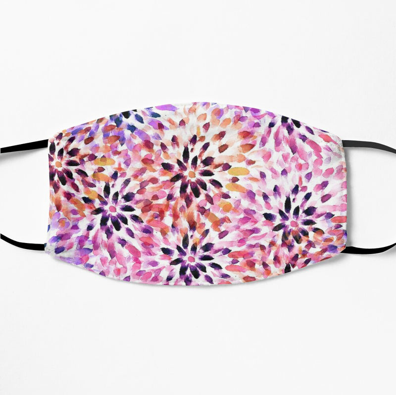 Printed Face Mask - Multicolour Floral Pattern 2 Ply Cloth Mask