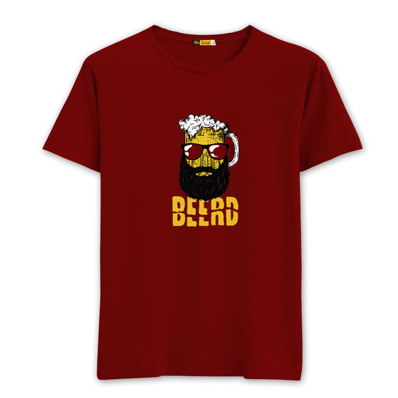 Beerd Round neck T-Shirts - Blood Red