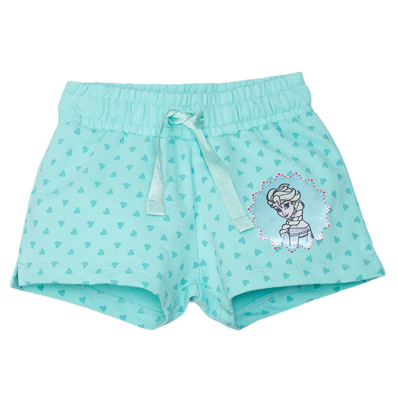 Frozen Blue Color Girls Shorts - STY-18-19-001787 Bioworld