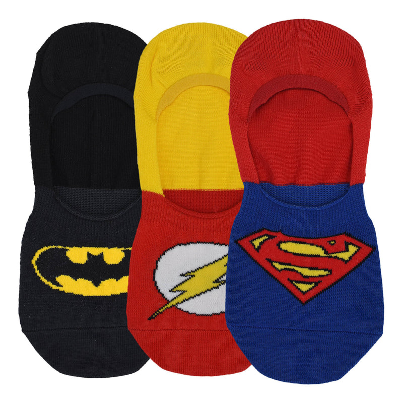 Justice League Socks with Anti Slip Silicon - Pack of 3