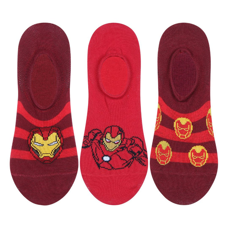 Disney Avenger Character Socks Red Pack of 3