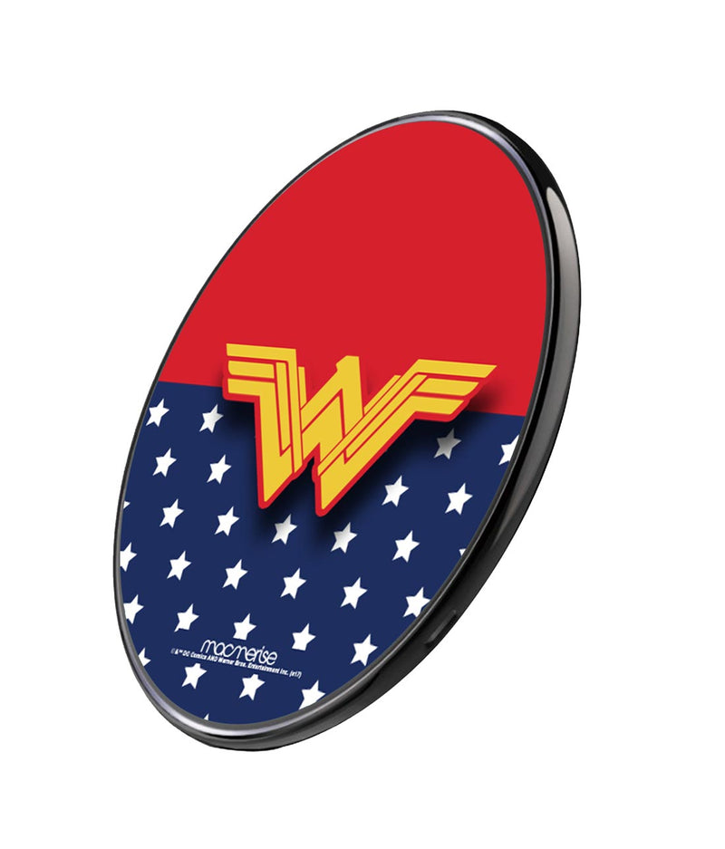 Classic Wonder Woman Logo - Qi Compatible Pro Wireless Charger