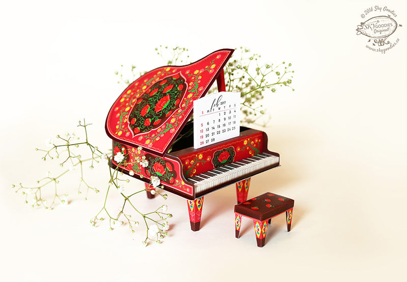 2020 & 2021 DIY Grand Piano - COLORFUL RED