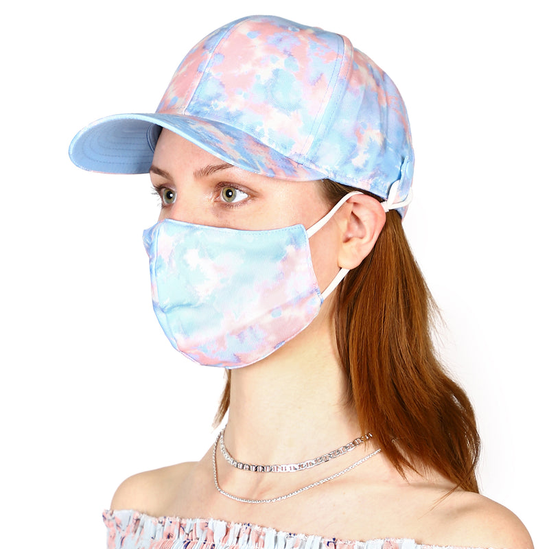 Blue Cap With detachable mask - 552