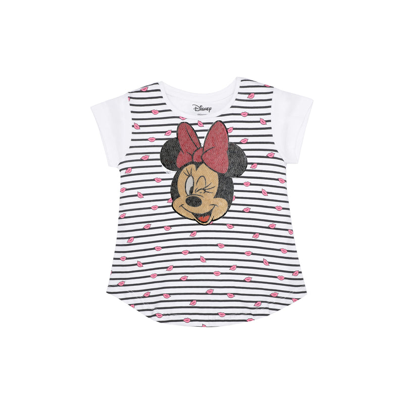 Mickey Mouse White Girls T-Shirt - 0736