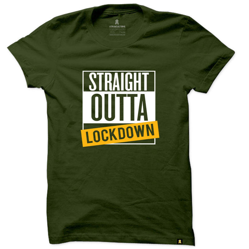 Straight out of Lockdown printed T-shirt