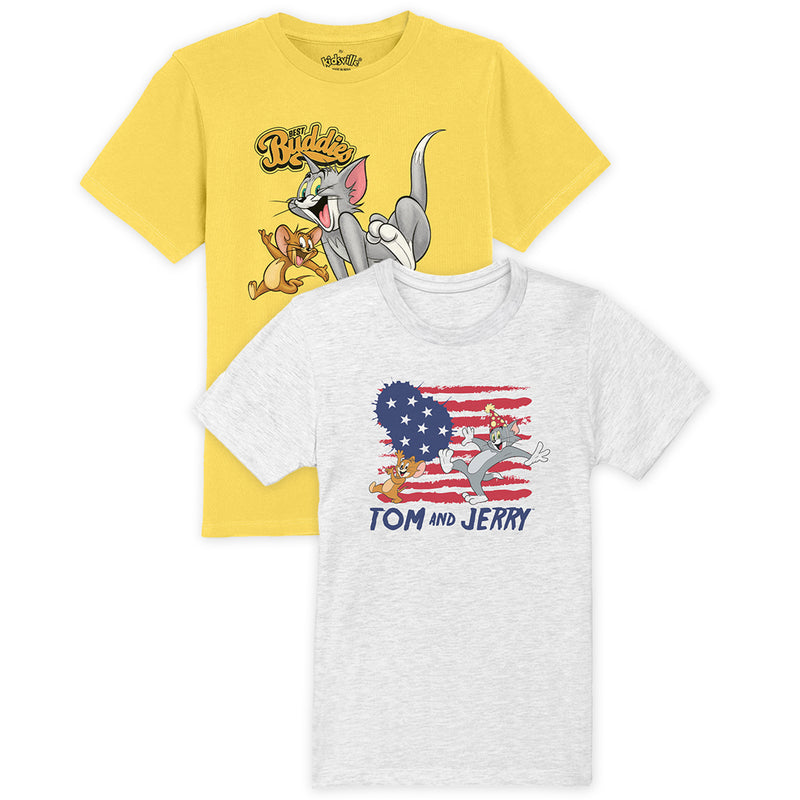 Tom & Jerry pack of 2 tshirts for Boys - KBTNJ09