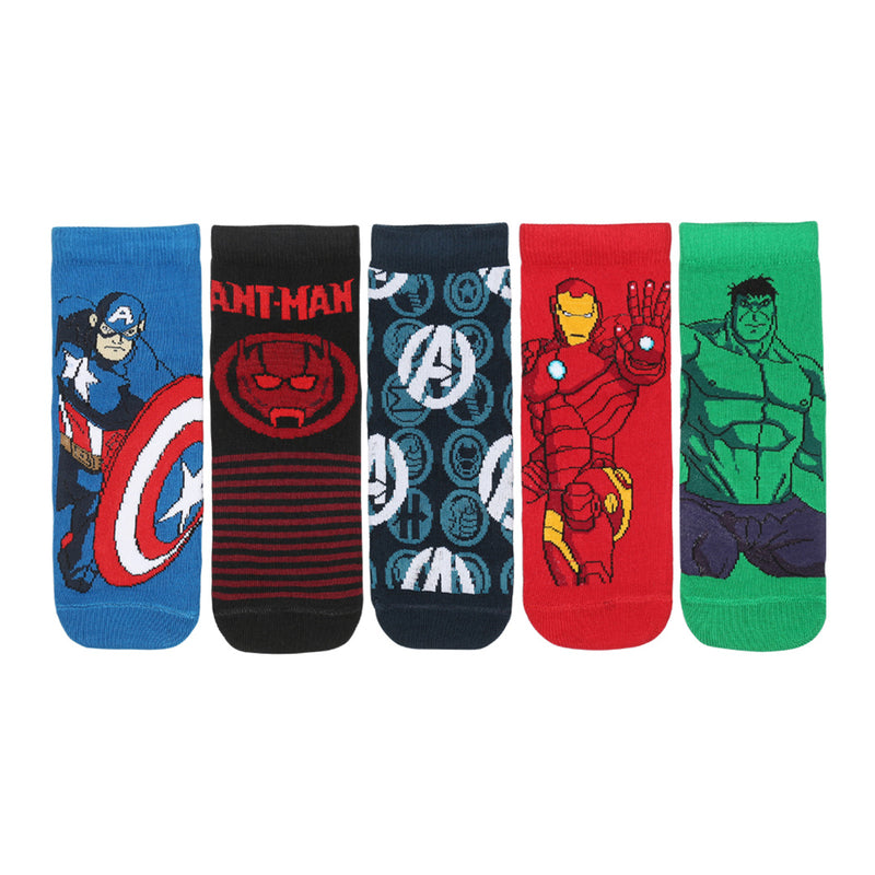 Disney Avenger Ankle Length Socks Dark Pack of 5