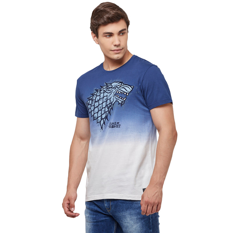Game Of Thrones printed Blue T-Shirt for Men - STY-18-19-002204 Bioworld