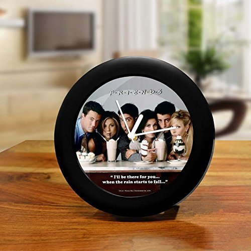 Friends - Tv Series- Combo Pack of 2 -Table Clock and Quotes Notebook