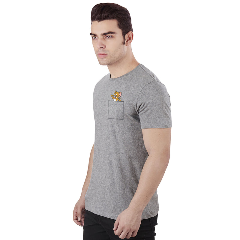Tom & Jerry Grey T-Shirt for Men - 4250