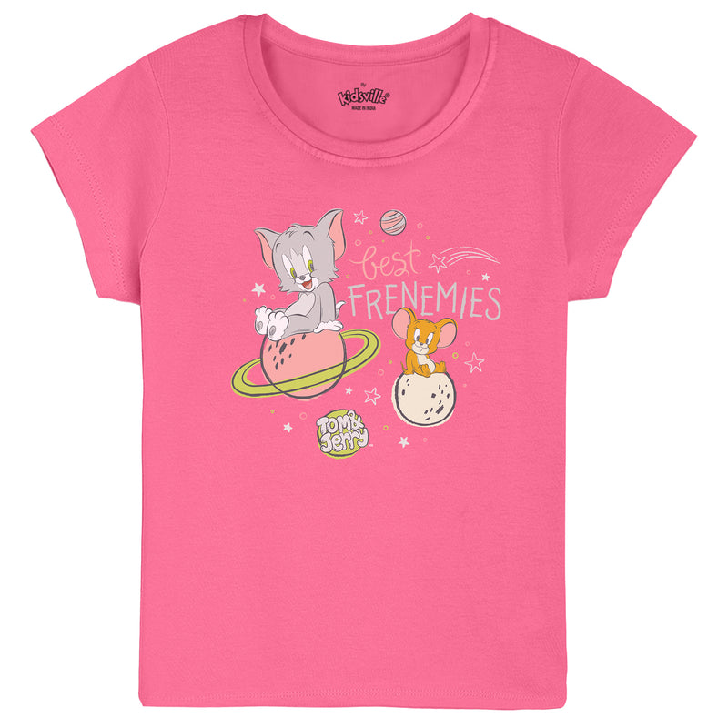 Tom & Jerry pack of 2 tshirts for Girls - KGTNJ11