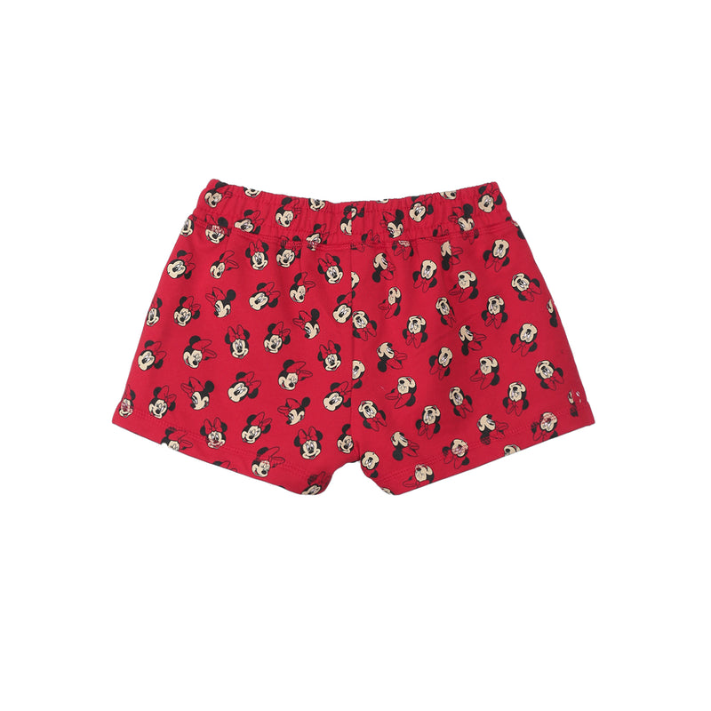 Mickey Mouse Red Girls Shorts