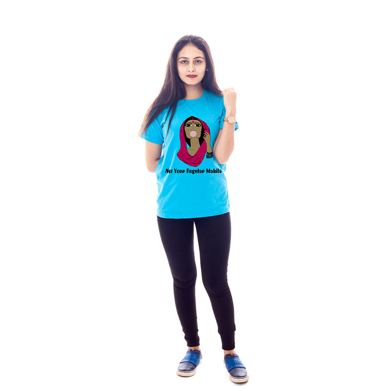 Not Your Regular Mahila T-Shirts - Blue