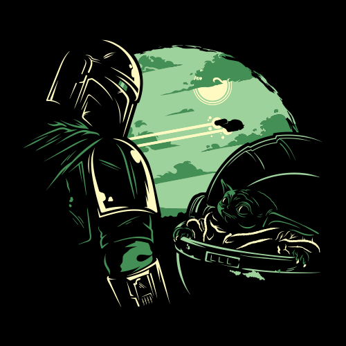 Mando And The Child - Star Wars Official T-shirt