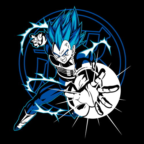 Vegeta: Super Saiyan Attack - Dragon Ball Z Official T-shirt