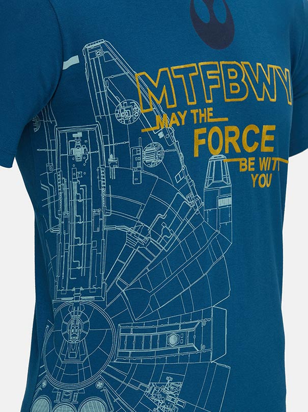 Star Wars - May The Force Be With You Blue T-Shirt