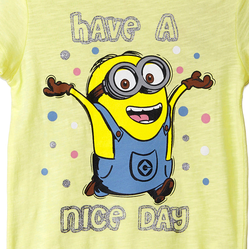 Minions Yellow T-Shirt for Girls - MI1GGT484 Bioworld