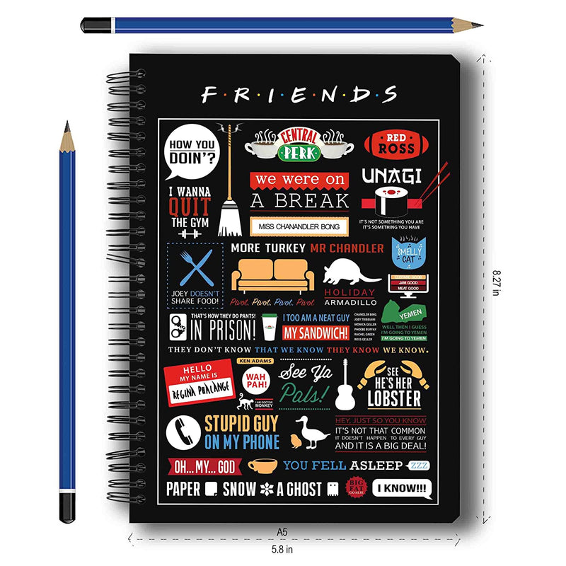 "Friends"" Infographic and Doodle' Notebooks -Pack of 2"