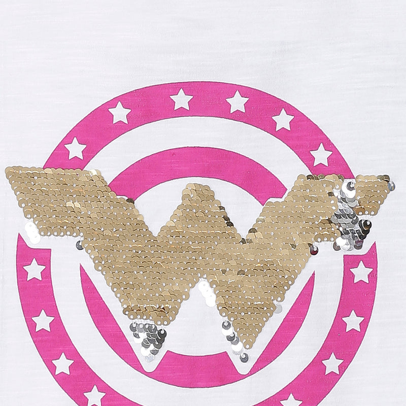Wonder Woman Printed White Tshirt - 2372