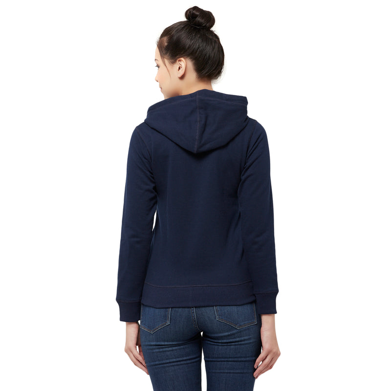 Game Of Thrones printed Blue Zipper Hoodie for Women - STY-18-19-002080 Bioworld