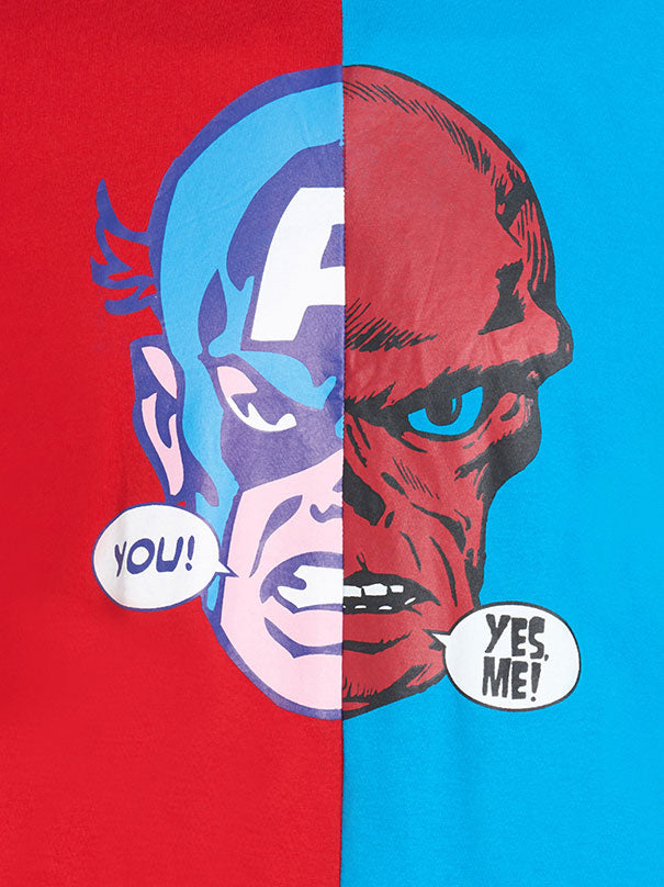 Captain America  T-Shirt - Blue & Red