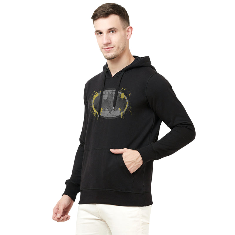 Batman printed Hooded Black Hoodie - 1742