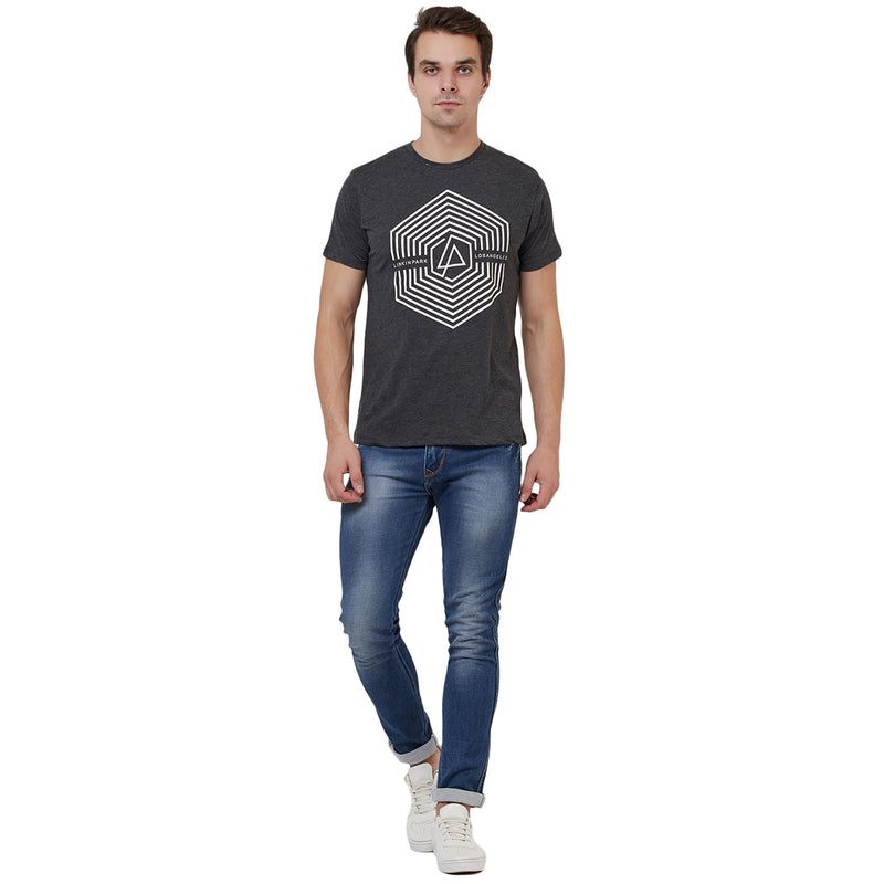 Linkin Park printed Grey Tshirt for Men -STY-18-19-005775