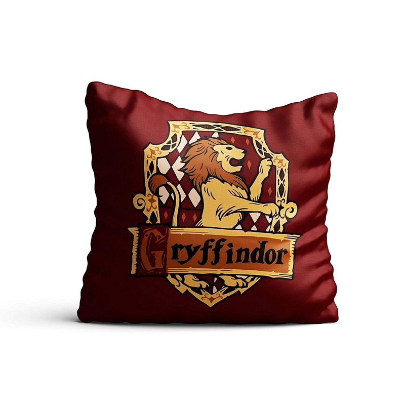 Harry Potter Combo Pack of 4 - Gryffindor Cushion cover + house crest eye mask + Bookmarks + Gift bag