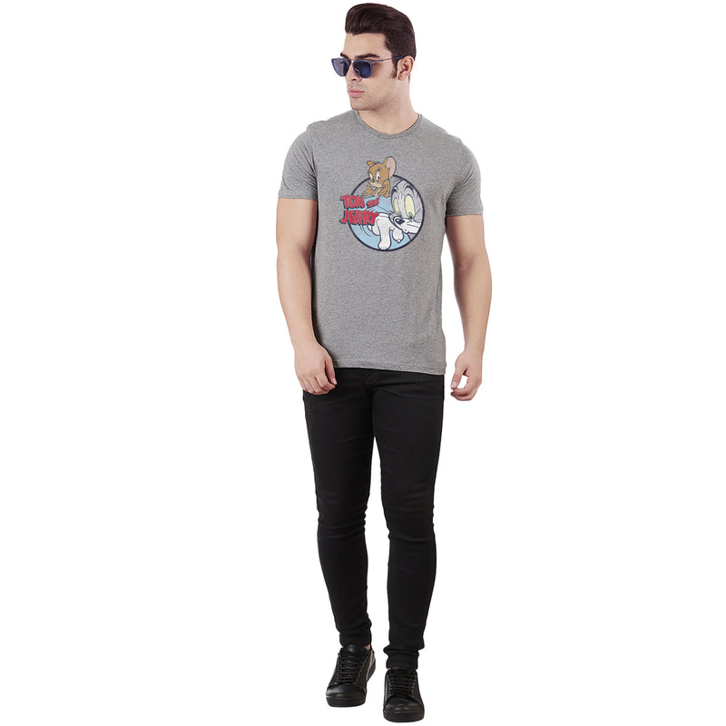 Tom & Jerry Grey T-Shirt for Men - 4246