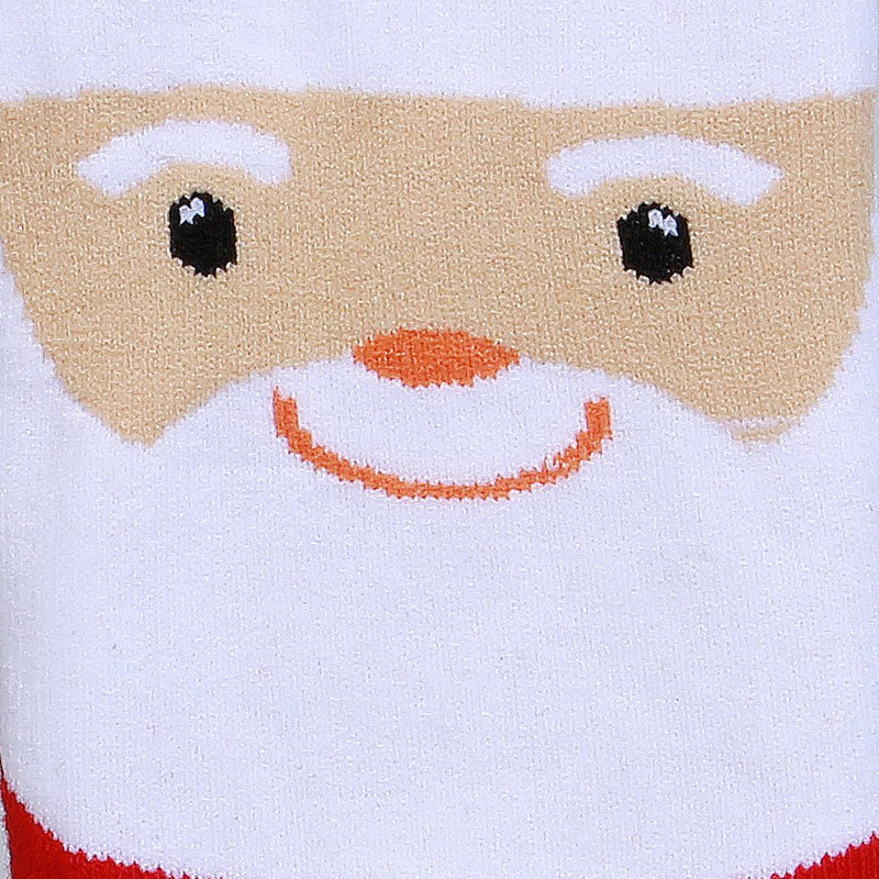 Christmas Crew Length Socks Unisex Red Pack of 4
