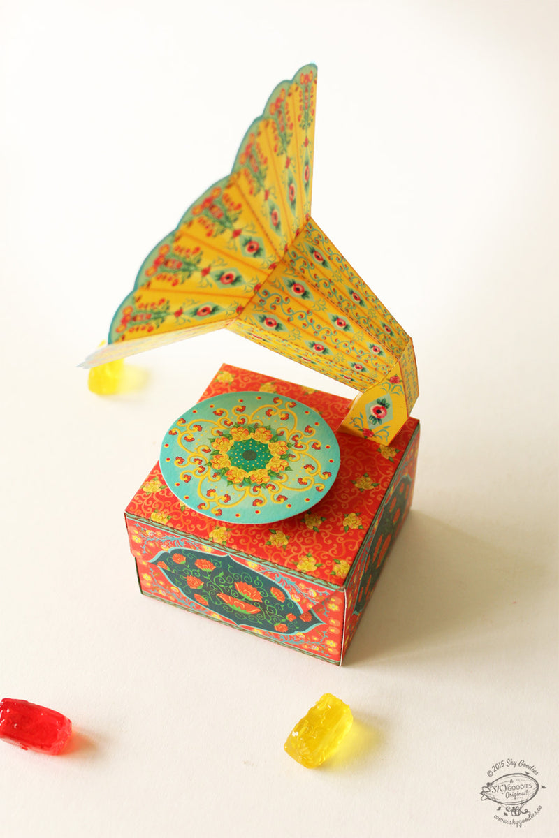 DIY Mini Gramophone Box - COLORFUL
