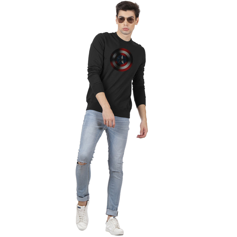 Captain Marvel Printed Black Sweatshirt - 2037