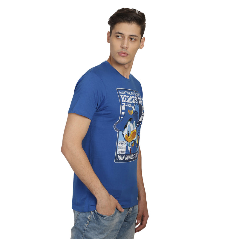 Mickey Mouse printed Blue T-Shirt for Men - 012