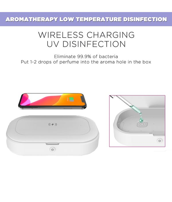 Anaar and Mor Beige UV Sanitizer & Wireless Charger Pro
