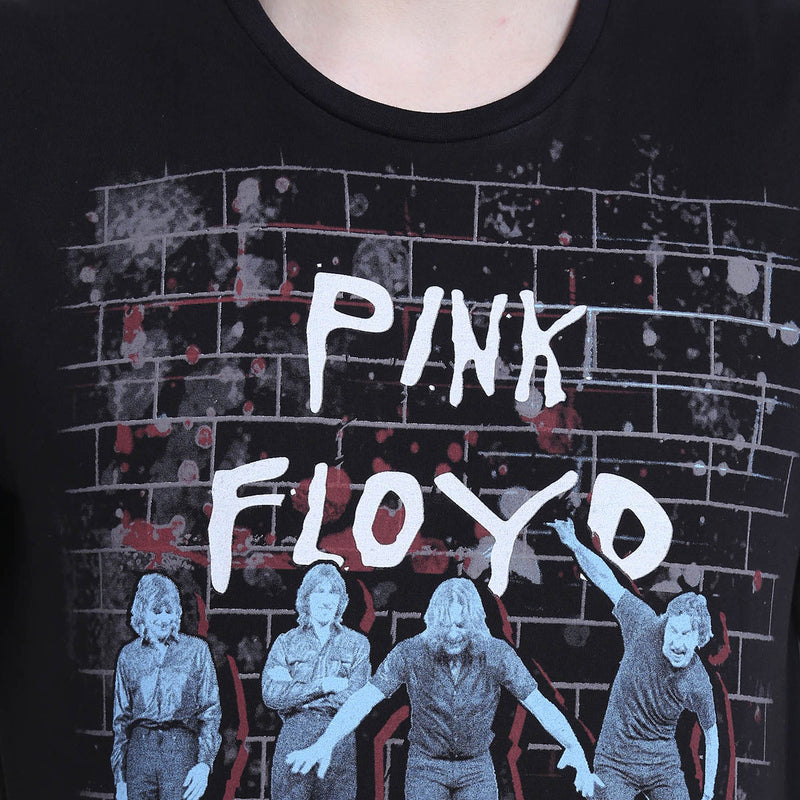Pink Floyd Printed Black T-Shirt for Men - MT0BPF11A Bioworld