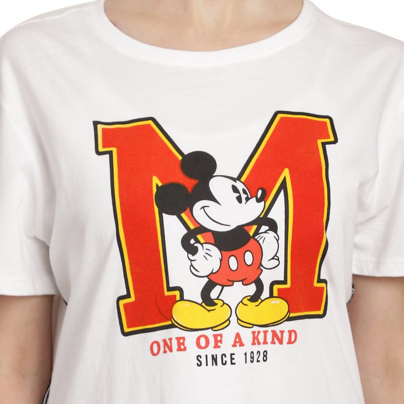 Mickey Mouse printed White T-Shirt for Women