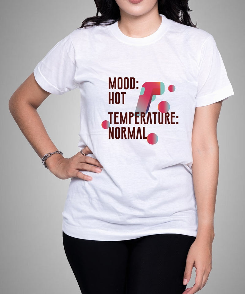Mood Hot Temperature Normal - White