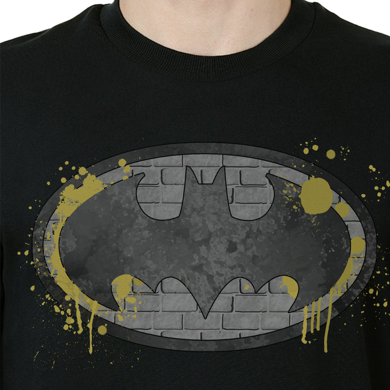 Batman printed Crew Neck Black Sweatshirt - 1726