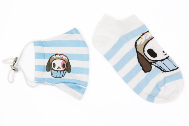 Tokidoki Matching Mask and Low Cut Socks Gift Pack for Women