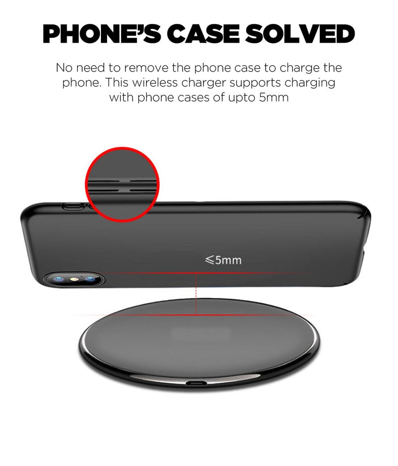 Criss Cross Grey - Qi Compatible Pro Wireless Charger