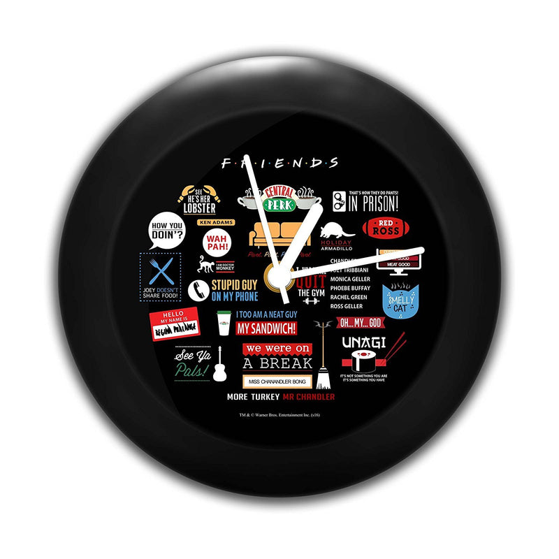 Friends Infographic Table Clock [ 6.2 x 6.2 x 2.3 Inch ]