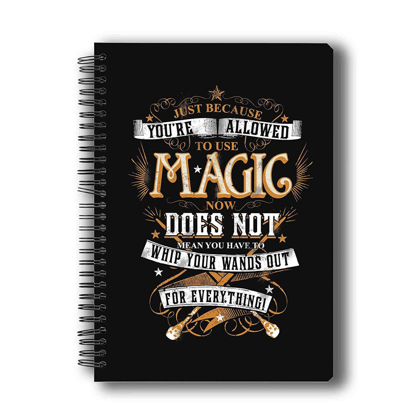 Harry Potter To Use Magic Now Notebook