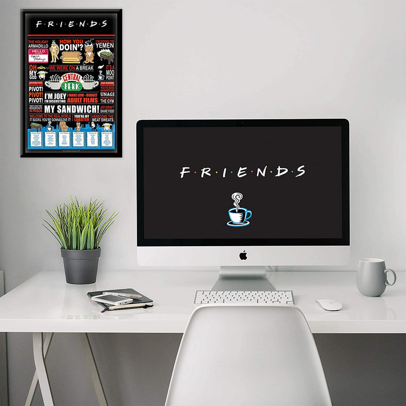 Friends Infographic Quotes Poster