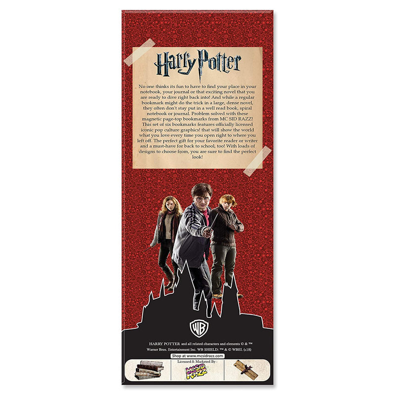 Harry Potter Magnetic Bookmarks Red - Pack of 6