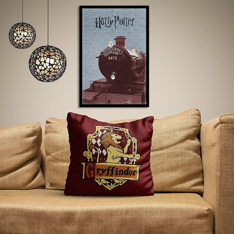 Harry Potter Gryffindor Satin Cushion Cover ( 16x16 Inch )