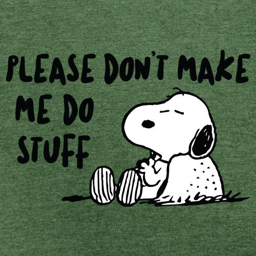 Don't Make Me Do Stuff - Peanuts Official T-shirt